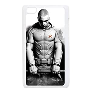 Batman Arkham City Robin Wallpaper funda iPod Touch 4 caja funda del teléfono celular blanco cubierta de la caja funda EEECBCAAJ00736