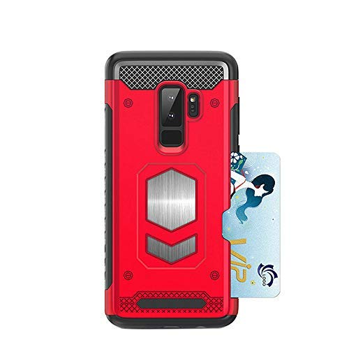san francisco 60272 7e079 S9Plus Case with Card Holder Compatible with Samsung Galaxy S9 Plus Cell  Phone Cover Luxury Damsung Gaxaly 9s S9p Cases Protective Bumper Skin Shell  ...