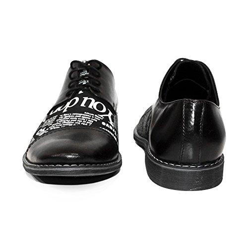 Oxfords Repujado Italiano Pano Negro Modello Peppeshoes A Vestir Encaje Mano Hecho Zapatos Cuero Hombre Piel S7fOnq