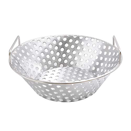 Skyflame Stainless Steel Charcoal Ash Basket Fits for Large BGE, Kamado Joe Classic, Pit Boss, Louisiana Grills, 14 inch Diameter