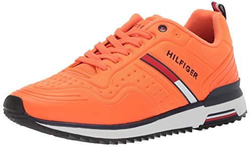Tommy Hilfiger Men's Vion Sneaker, Orange, 9.5 M US