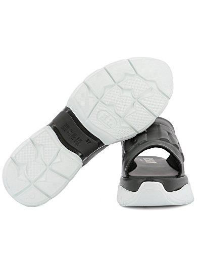 Msgm Vrouwen 2241mds26050 Zwart Lederen Sandalen