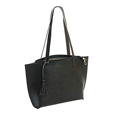 iFOMO Womens Vintage Tote Bag Fringed Shoulder Bag PU Leather Satchel Bag Fashion Hobo Bag