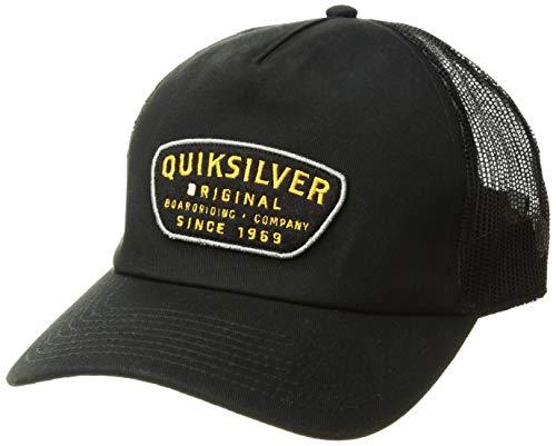 Quiksilver Men's CYLINDERS Trucker HAT, Black, 1SZ