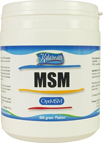 Kala Health - OptiMSM® (Methylsulfonylmethan) Pulver (Flocken) 500g, reines MSM, Nahrungsergänzungsmittel hergestellt in den Vereinigten Staaten