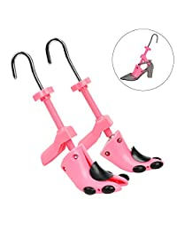 YaeKoo Pair of Premium High Heel Shoe Stretcher for Women 2-way Plastic Adjustable Ladies Shoe Tree Shaper for Size 4.5 - 9.5