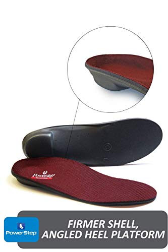 Powerstep Pinnacle Maxx Orthotic Insole, Maroon, Men's 10-10.5 / Women's 12