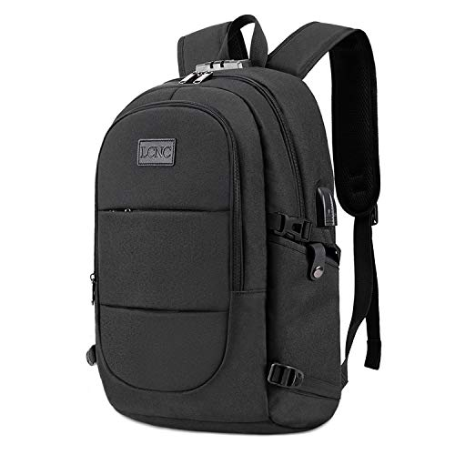 Anti Theft Backpack,Business Travel Laptop Backpack With RFID Signal Blocking Pocket USB Charging Po