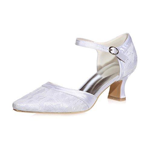 L@YC Frauen Hochzeit Schuhe Seide 0723-06 Pointy / Party Night & More verfügbar Farbe anpassung White