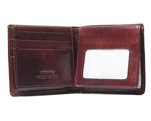 I ID Credit Card Wallet Window Medici Men for Brown Bifold RwqpTgrR