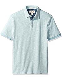 Men's Short Sleeve Slub Plaited Polo