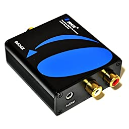 Orei DA34X Premium Digital to Analog Audio Decoder SPDIF/Coaxial 5.1-Channel Input to RCA L/R/3.5mm Headphone Output