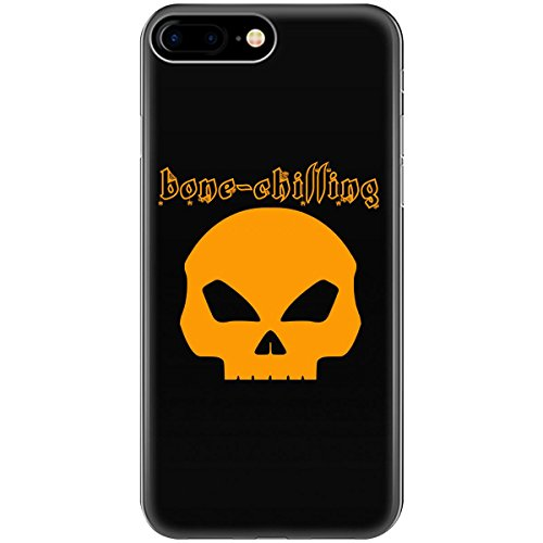 Bone-chilling Halloween Front Facing Skull Gold - Phone Case Fits Iphone 6, 6s, 7, 8