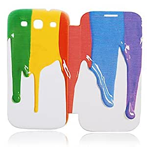 DUR sold out Scatter Oil Paint Leather Case for Samsung Galaxy S3 I9300