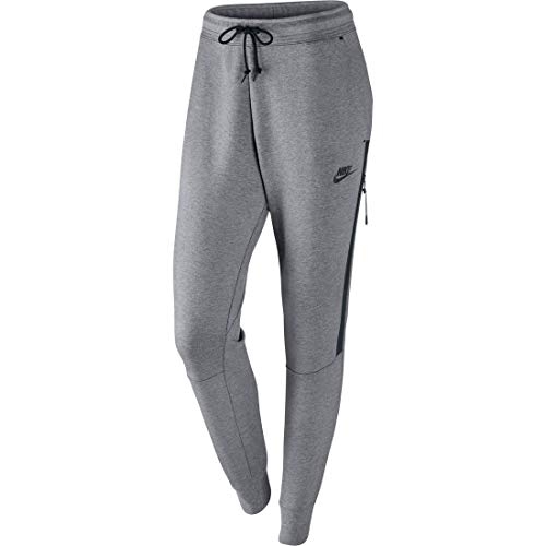 (Nike Women's Tech Fleece Pants, Carbon Heather/Black SM X 31 )