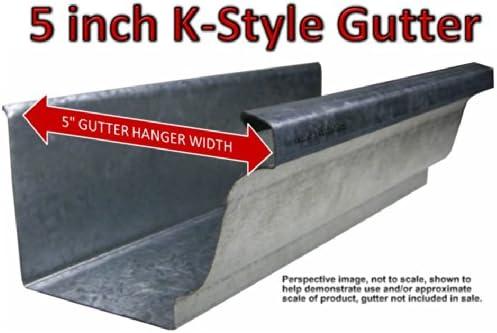 Quick Screw 5 50 Pack Premium Hidden Rain Gutter Bracket Hook Hangers With Screw Clip Style Amazon Com