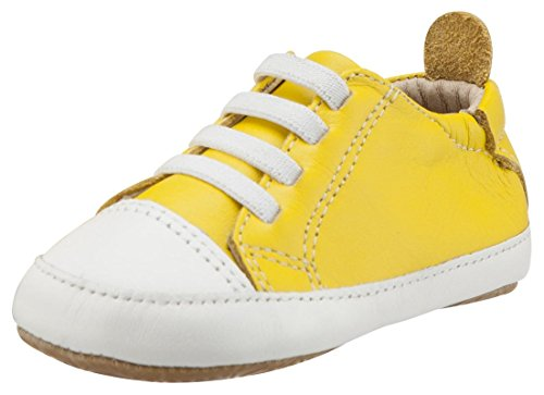 Old Soles Boy's & Girl's 106R Eazy Jogger Vintage Trainer Yellow and White Leather Slip On Sneakers 23 M EU/7 M US - E Eazy Old