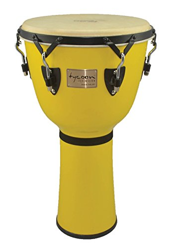 Tycoon Percussion TJ-714 B CB 14-Inch Signature Series Djembe, Canary Burst Finish