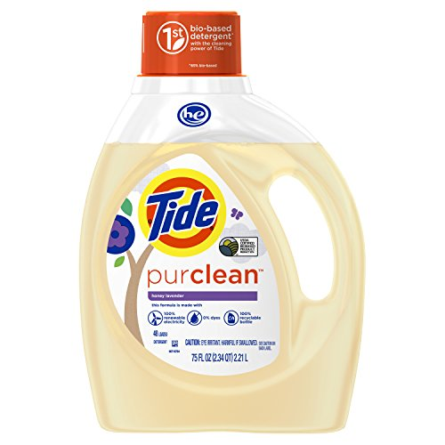 Tide PurClean Laundry Detergent, Honey Lavender Scent, 75 Oz
