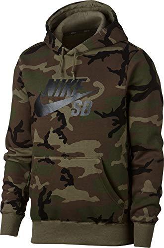Nike Field Jacket Mens (Nike Mens M NK SB Hoodie ICON ERDL AT9755-222_M - Medium Olive/Medium Olive/Black)