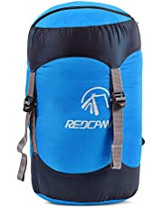 REDCAMP Nylon Compression Stuff Sack, 6L/15L/25L/35L Lightweight Sleeping Bag Compression Sack Great for Backpacking, Hiking and Camping