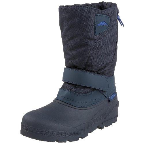 Boots Winter Navy (Tundra Quebec Child Winter Boots, Navy, 6 M US Big Kid)