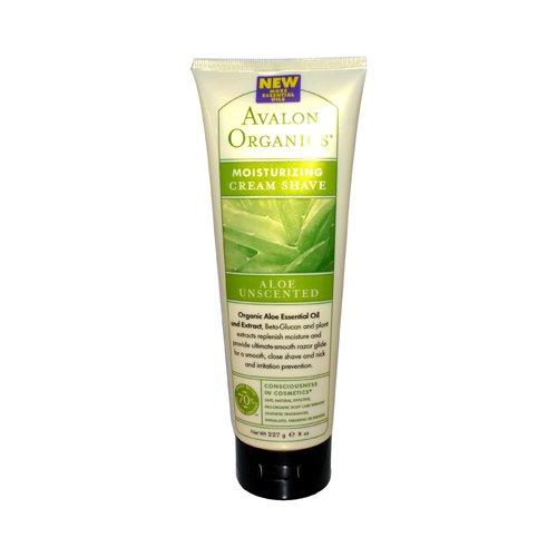 Bulk Saver Pack 8x8 OZ : Avalon Organics Moisturizing Cream Shave Aloe Unscented