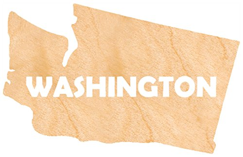 aMonogram Art Unlimited S98930-WA-12 State Of Washington Wooden Shape With State Name and 1/8 Burch plywood Wall Decor, 12''