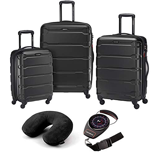 Samsonite Omni Hardside Luggage Nested Spinner Set of 3 Black with Travel Kit