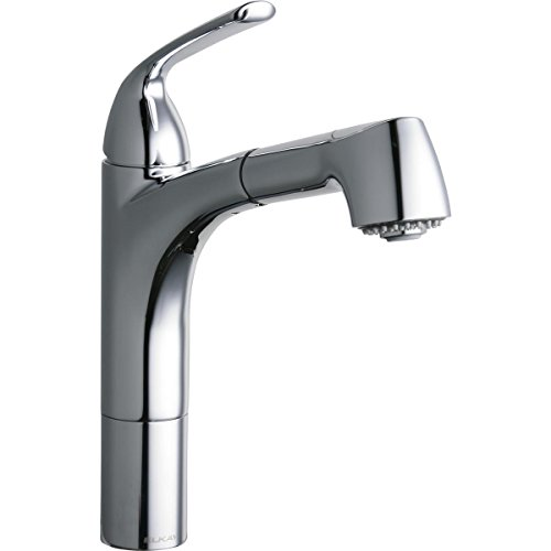 Elkay Chrome Spray Faucet (Elkay LKGT1041CR Gourmet Chrome Single Lever Pull-out Spray Kitchen Faucet)