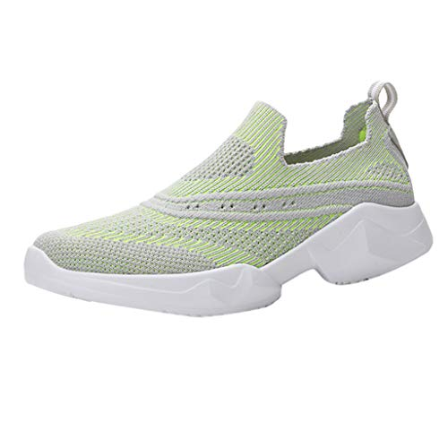 (OrchidAmor Leisure Women's Outdoor Mesh Lace-Up Sports Athletic Shoes Run Breathable Shoes Sneakers 2019 Summer Swag Shoes Green)