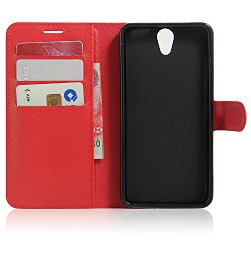 Funda Lenovo VIBE S1 Lite,Manyip Caja del teléfono del cuero,Protector de Pantalla de Slim Case Estilo Billetera con Ranuras para Tarjetas, Soporte Plegable, Cierre Magnético H
