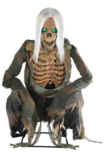 Morris Costumes Animated Crouching Bones Skeleton with Lights - Standard
