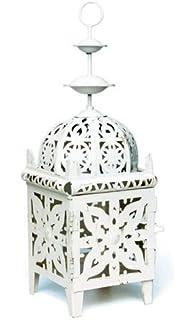 Mica Decorations Lantern Fir Wood Brown 28 X 28 X 75 Cm Amazon