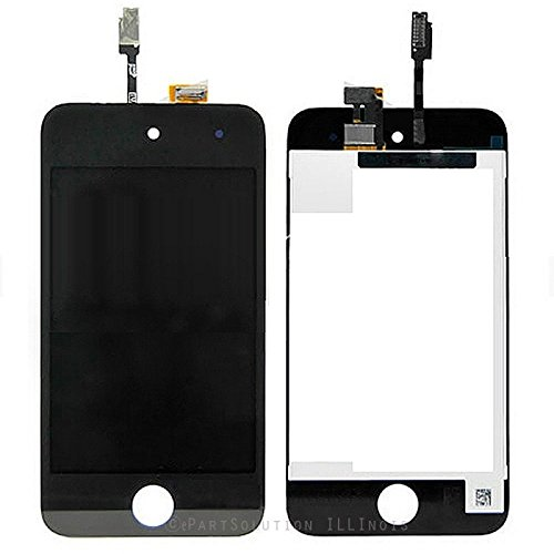 ePartSolution_iPod Touch 4th Generation LCD Display Touch Screen Digitizer Assembly Replacement Part USA Seller (Black) - Ipod 4th Generation Screen