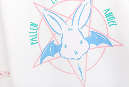 Harajuku Fashion Cute Rabbit Kawaii Hoody Casual Loose Long