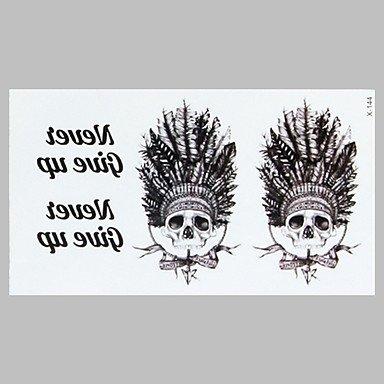 HJLHYL? la moda del tatuaje indio americano pegatinas impermeables ...