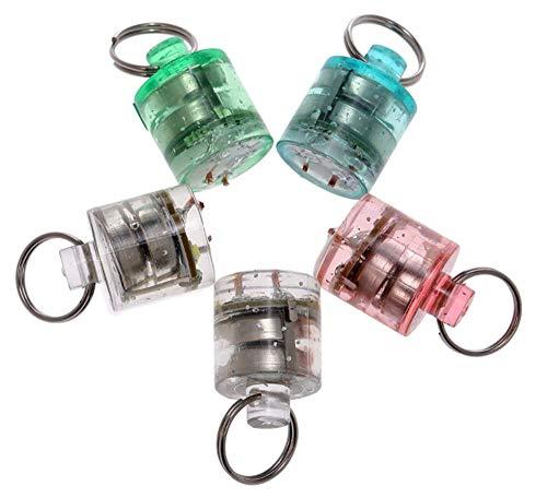 Wincspace Mini Bright LED Deep Drop Underwater Diamond Fishing Flashing Light Bait Lure Squid Durable Practical Tool 42.5cm (Mix Colour 5 5pcs)
