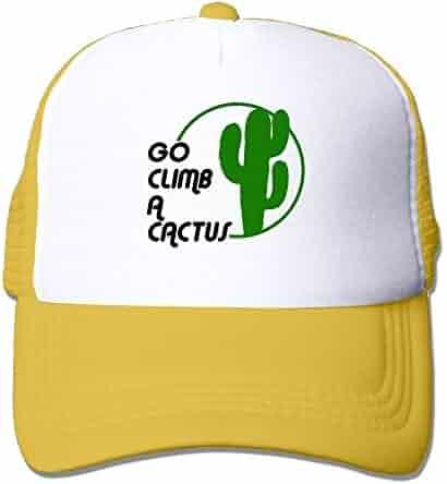 d2acdf3cb67 Men Women Mesh Back Trucker Cap Go Climb A Cactus Adjustable Sport Hat