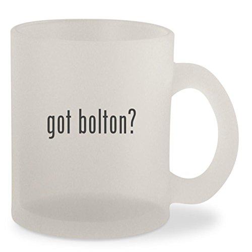 got bolton? - Frosted 10oz Glass Coffee Cup Mug - Gwyneth Doll
