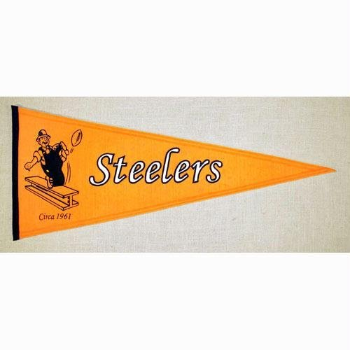 (NFL Throwback Pennant Banner Type: Pittsburgh Steelers)