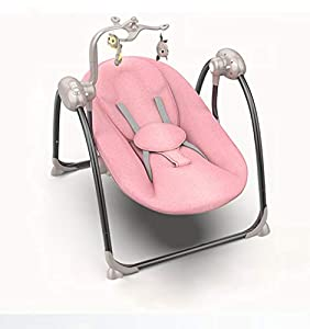 Baby Multifunctional Rocking Chair 0-36 Months Baby Sleeping Bag Swing Shaker Shaker Soothing Electric Cradle Platinum Edition Pink