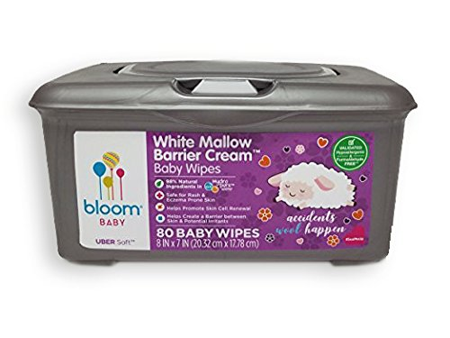 bloom BABY White Mallow Baby Wipes Tub (80-count)
