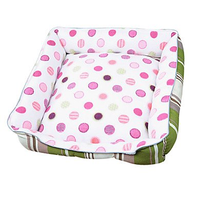 Quick shopping Cozy Dots Pattern Fleece Warm Mat Bed for Pets Dogs