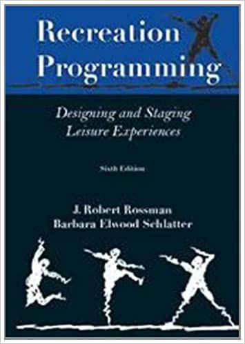 Amazing Download E Book For IPad: Recreation Programming: Designing Leisure  Experiences By J. Robert Rossman Rossman