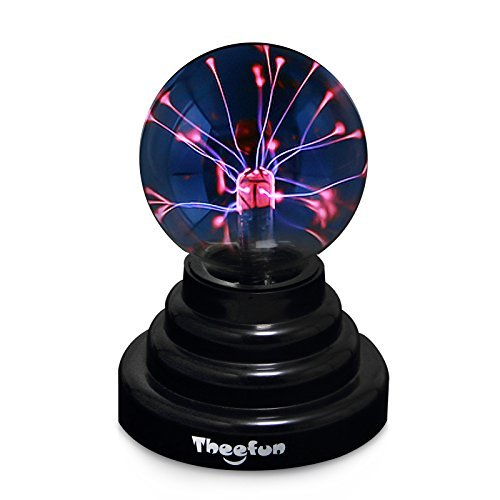 Theefun MB101 Magic Plasma Ball [Touch Sensitive] Nebula Sphere Globe Novelty Toy - USB or Battery ()