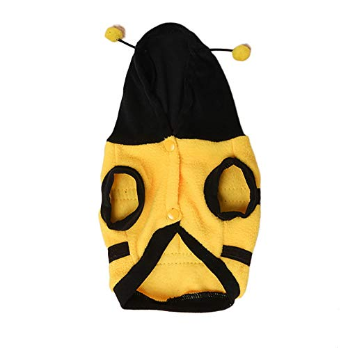 (Brinty Urijk Warm Fleece Dog Costumes Bee Cosplay Suits for Small Medium Large Dogs Cute Bee Pattern Pet Dog Clothes Pet)