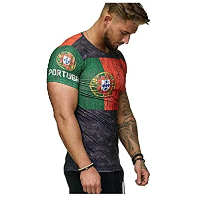 Mens Short Sleeve T-Shirt Cool 3D Print Shirts Football Club Men's T-Shirt Vintage World Cup Jersey Soccer T-Shirt from BingYELH