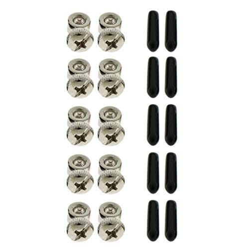 5 Sets Replacement Adjustable Screws and End Caps, Replacement Parts Kit for Jump Rope Speed (Best Unknown Speed Ropes)