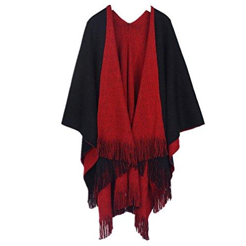 KESEE Clearance Coat ☀ Women Cashmere Cardigan Sweater Poncho Capes Shawl Cardigans Poncho Coat (One Size, (Cashmere Sweater Coat)
